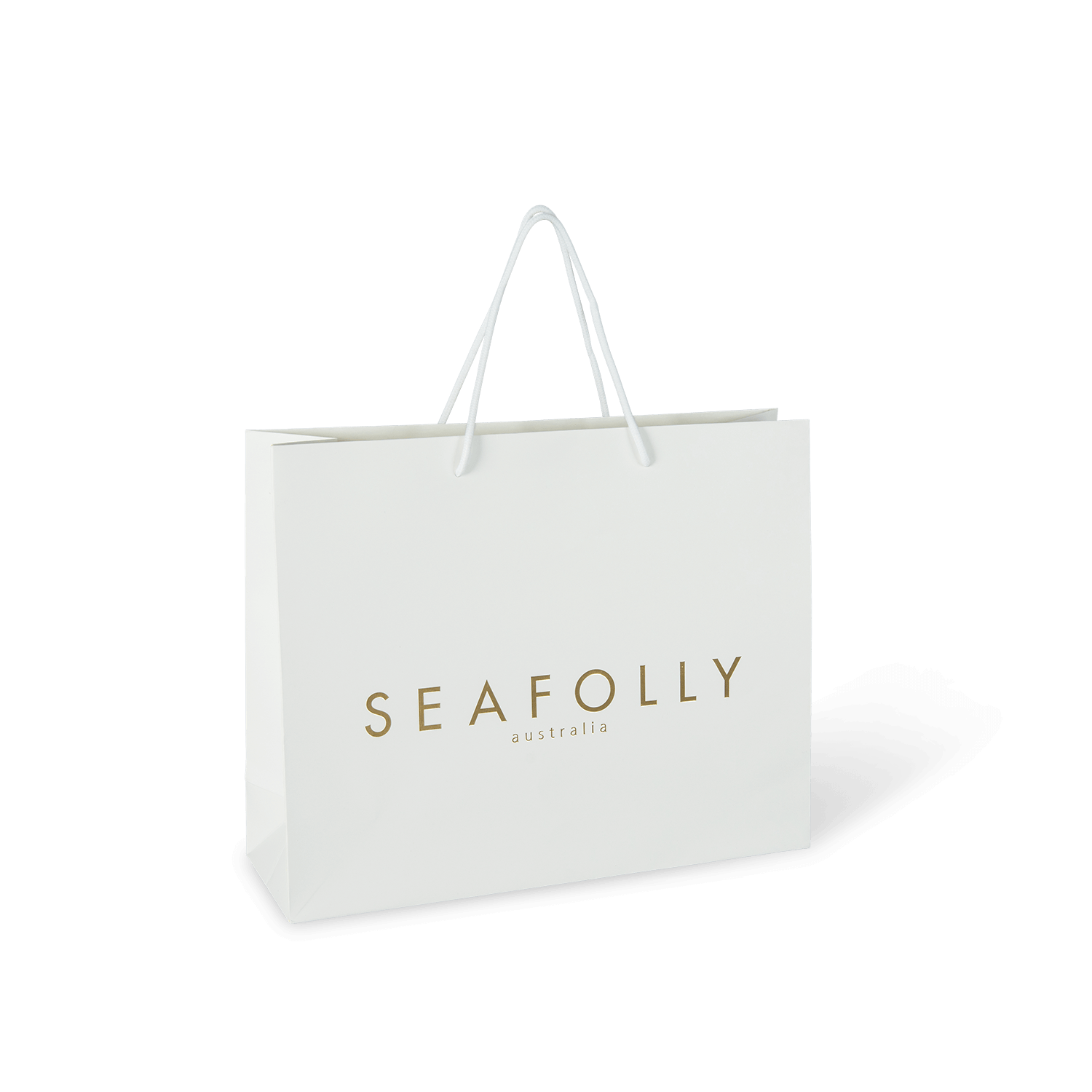 PaperPak Gallery Seafolly branded paper bag with rope handle